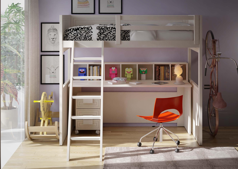 dormitorio pequeño con litera en toledo