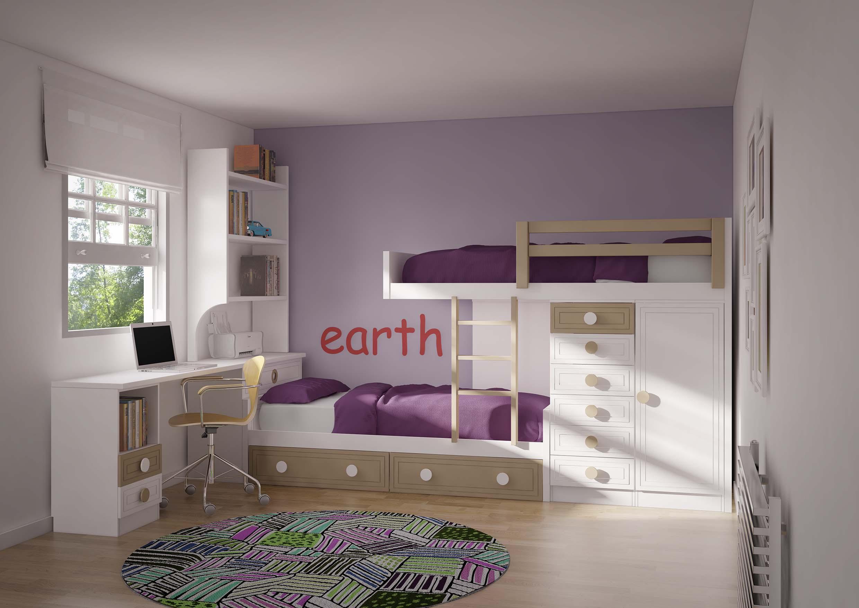 dormitorio dos literas juvenil toledo